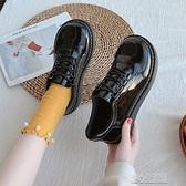復古百搭圓頭學院風jk小皮鞋秋夏日繫軟妹可愛大頭娃娃鞋套腳女鞋 快速出貨