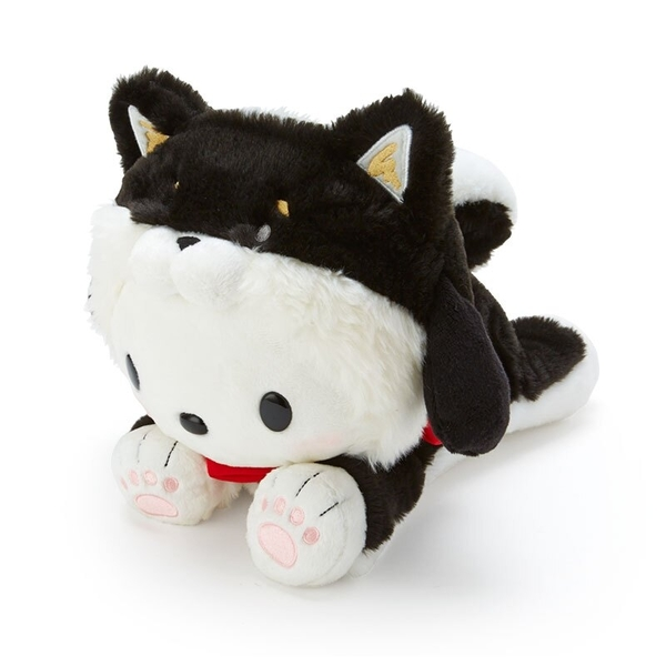 小禮堂 帕恰狗 沙包玩偶 柴犬玩偶 絨毛玩偶 中型玩偶 布偶 (黑 調皮柴犬) 4550337-57411