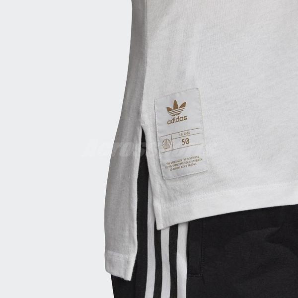 adidas 短袖T恤 Originals Tee 白 金 女款 短T 運動休閒 【ACS】 GK1715