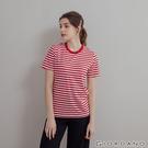 【GIORDANO】 女裝SMART素色短袖T恤 - 99 標誌紅X皎白