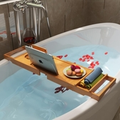 浴缸架 浴缸架多功能浴缸衛生間置物架浴室泡澡紅酒架伸縮支架浴缸置物板 mks宜品