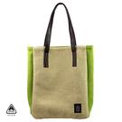 秋冬溫暖 跳色刷毛 手提包 肩背包 綠色 AMINAH~【am-0204】
