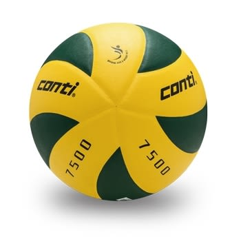 日本頂級超細纖維貼布排球(5號球) 黃/綠