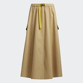 Adidas W Prsve Skirt 女裝 長裙 休閒 工作風 大口袋 腰帶 卡其【運動世界】H29521