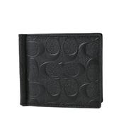 美國正品 COACH 男款 浮雕LOGO八卡鈔票夾-黑色【現貨】
