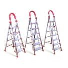【AK590B】四階D型不鏽鋼伸縮梯(免運) 4步伸縮梯 A字梯 加寬加厚踏板 人字扶手梯 EZGO商城