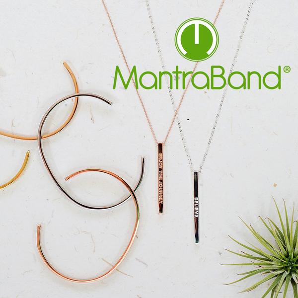 Mantraband | BLESSED 祝福 - 悄悄話玫瑰金手環 台灣官方總代理