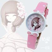 兒童卡通手錶中小學生時尚女孩女童防水石英腕錶電子手錶 范思蓮恩