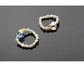 【喨喨飾品】珍珠戒指。白色S439