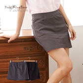 褲裙--端莊小淑女窄裙版OL風格鬆緊褲裙(黑.灰M-6L)-R98眼圈熊中大尺碼