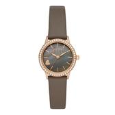 ELLE 心之所向晶鑽腕貝殼面腕錶-卡其色