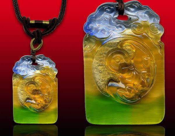 鹿港窯~居家開運水晶琉璃項鍊~福運來財 附精美包裝◆免運費送到家
