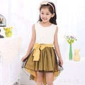 2018夏裝新款韓版女童洋裝童裝背心兒童公主裙中大童紗裙子禮服 好再來小屋