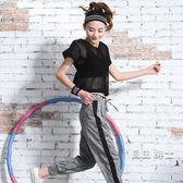 大尺碼跑步運動套裝女夏季春健身服女三件套網罩衫寬鬆健身房瑜伽服 1件免運