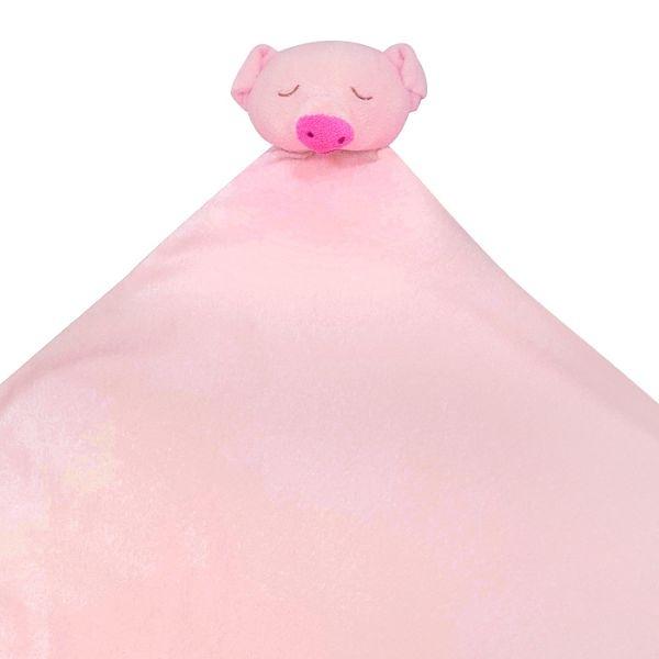 美國Angel Dear 大頭動物嬰兒毛毯 粉紅小豬