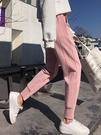 2019新款春秋冬季運動褲女寬鬆加絨束腳哈倫褲外穿九分休閒女褲子 米娜小鋪
