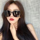 墨鏡女新款潮時尚街拍大框ins圓臉顯瘦韓版復古網紅太陽眼鏡 polygirl