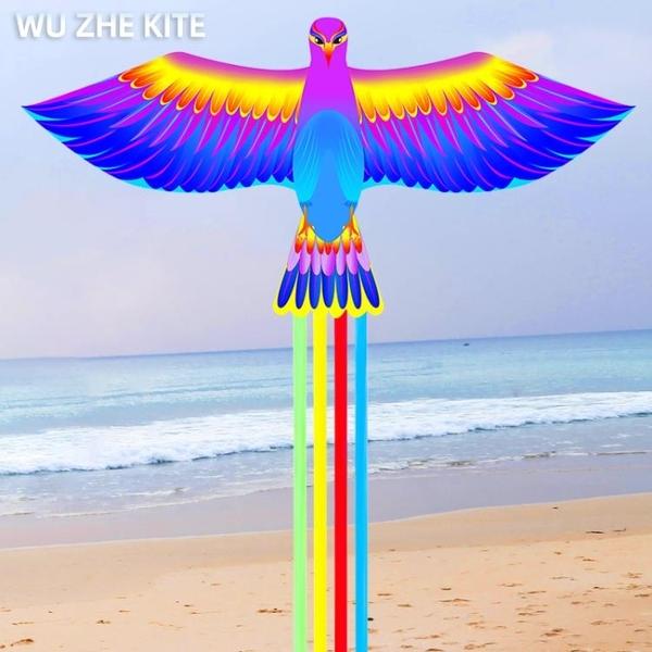 新款鸚鵡鳳凰風箏大人專用中國古風風箏兒童微風易飛長尾風箏線輪ATF 格蘭小鋪