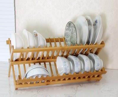 楠竹碗碟盤子收納架  瀝水架【潮咖範兒】