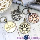 【Fulgor Jewel】富狗 客製寵物吊牌 合金材質仿古處理 腳印款式 背面免費雕刻(限文字)