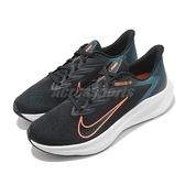 Nike 慢跑鞋 Air Zoom Winflo 7 黑 綠 男鞋 運動鞋 【ACS】 CJ0291-013