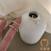 戒指女潮時尚創意鋯石簡約風食指戒開口可調節【宅貓醬】