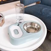 寵物碗 貓碗不銹鋼狗碗雙碗自動飲水器兩用寵物食盆【匯美優品】