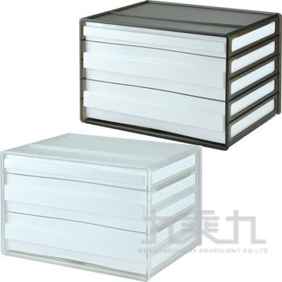 SHUTER 樹德 桌上型3抽文件櫃 DDH-121 透色