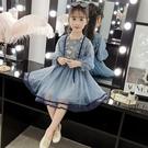 女童夏季連衣裙 洋氣可愛連身裙 韓版簡約長裙 清新女童洋裝 甜美蕾絲裙公主裙 大女童裝沙灘裙