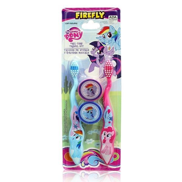 美國進口 可愛卡通My Little Pony 2入兒童牙刷(附刷蓋)-適合3歲以上使用