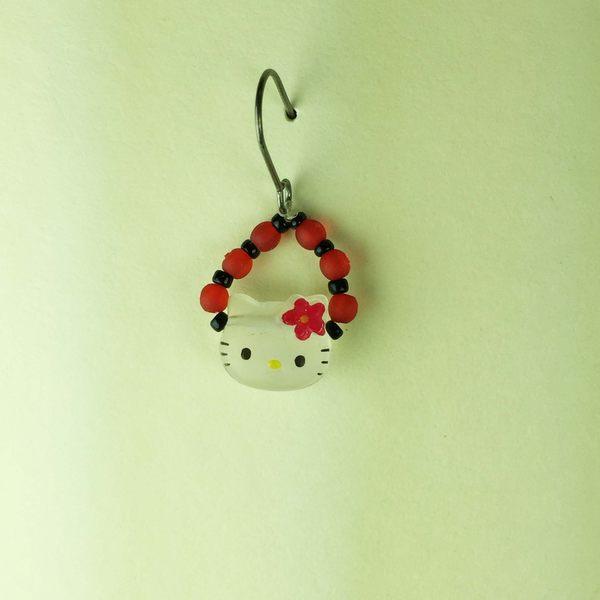 【震撼精品百貨】Hello Kitty 凱蒂貓~耳環-瓢蟲造型