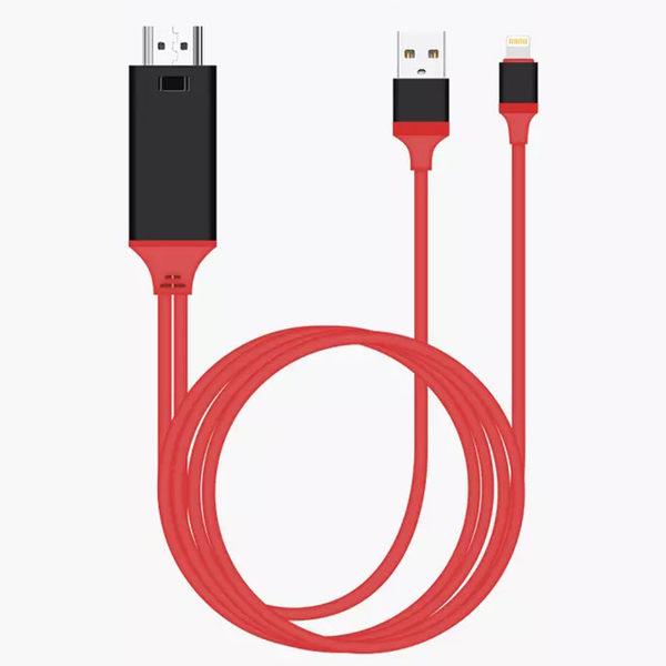 法拉利 Apple iPhone Lightning 8pin 轉 HDMI 數位影音轉接線