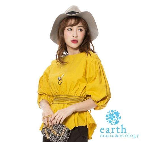 「Hot item」篷袖平領上衣 - earth music&ecology