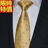 桑蠶絲領帶 男配件-奢華花紋商務紳士手打領帶66ae13【巴黎精品】