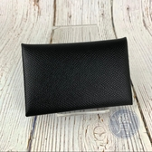 BRAND楓月 HERMES 愛馬仕 Q刻 CALVI 黑色 對折 卡包 卡夾