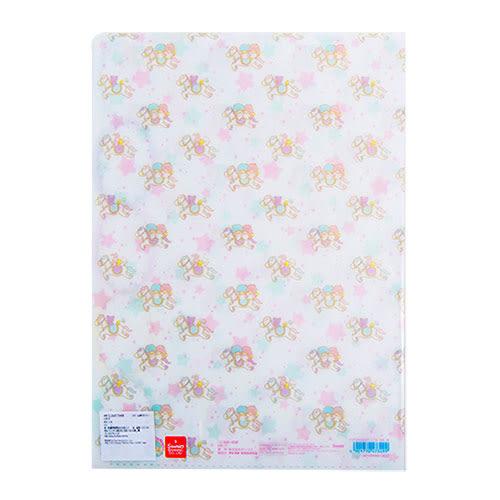 《Sanrio》雙星仙子40週年快樂紀念日系列五層分類文件夾(彩虹木馬)★funbox生活用品★_UA47349