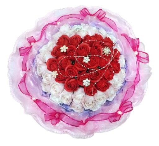 娃娃屋樂園~66朵水鑽香皂花 每束3000元/情人節花束/情人節禮物