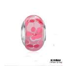 粉紅精品花纹琉璃珠 潘朵拉風DIY串珠手...