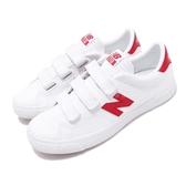New Balance 休閒鞋 NB 210 N字鞋 白 紅 小白鞋 魔鬼氈 復古帆布鞋 運動鞋 男鞋 女鞋【PUMP306】 AM210VWRD