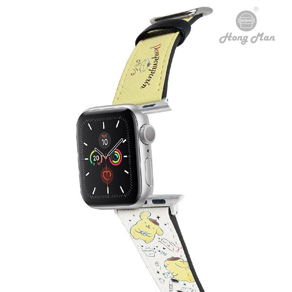 三麗鷗系列 Apple Watch 皮革錶帶 布丁狗 (銀)