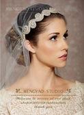 歐美奢華氣質超閃手工水鑽發箍 新娘婚紗配飾頭飾品發飾發帶手錬【極有家】
