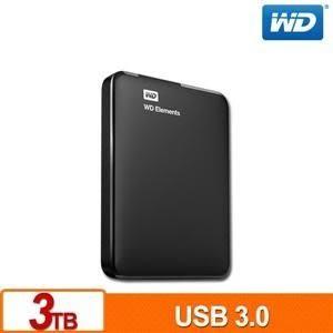 【台中平價鋪】全新WD Elements 3TB USB3.0 2.5吋行動硬碟 公司貨