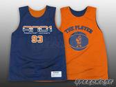 AND1 球衣 雙面穿 籃球背心 漸層 #93 深藍橘 肌肉人 T4033-0G7【Speedkobe】