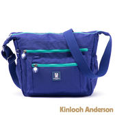 【金安德森】極簡玩色 小型正方款斜側輕旅包-亮麗藍綠