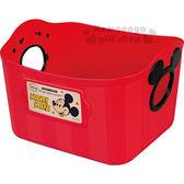 〔小禮堂〕迪士尼 米奇 日製軟式收納盒《L.紅》2.5L 4904121-34023