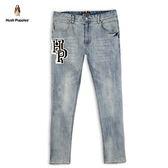 Hush Puppies 牛仔褲 男裝HP毛線繡標牛仔刷色長褲