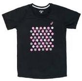 [陽光樂活=]  ASICS 亞瑟士 女 運動 慢跑 圓領短袖印花T恤 CFK282-90 吸濕排汗 L