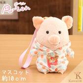 Hamee 日本 Pig童話故事系列 三隻小豬 絨毛玩偶 布偶娃娃 吊飾 掛飾 (圓點點小豬) 557-030404