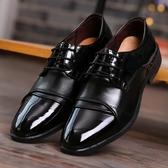 男士商務婚紗攝影新郎結婚鞋男黑色尖頭影樓拍照演出酒店工作皮鞋
