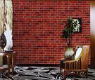 中式複古仿古磚紋文化石磚塊壁紙青紅灰白磚...